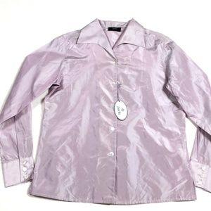 Zanella Platinum New $186 Women's Silk Blouse Top